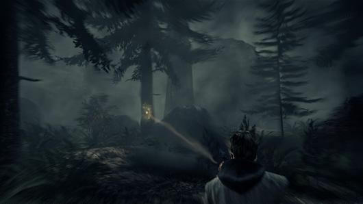 La forêt hantée du premier Alan Wake