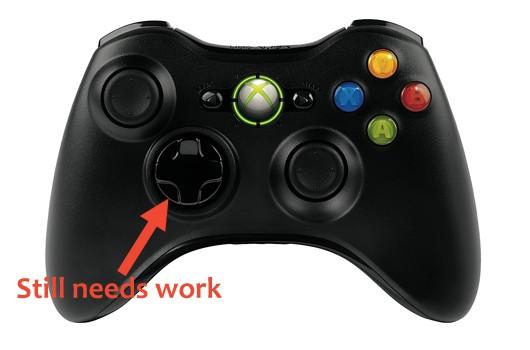 La croix directionnelle de la manette Xbox 360 est une horreur